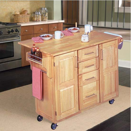 Home Styles Kitchen Center Island With Double Cabinets