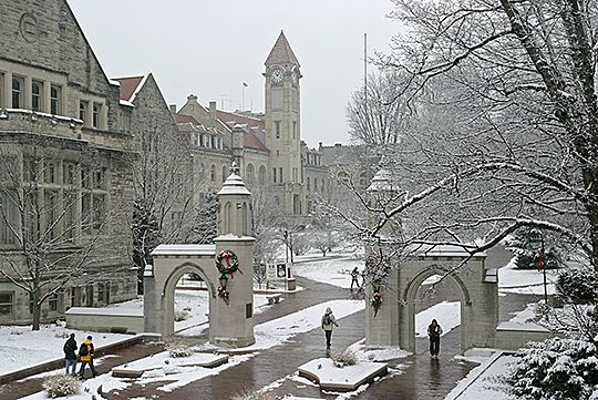 Sample Gates in Winter; Indiana University, Bloomington, IN