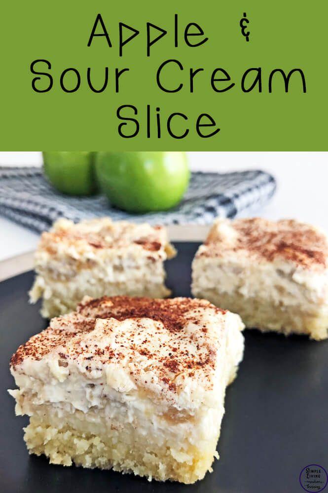 Apple And Sour Cream Slice Recipe Sour Cream Recipes Apple Slice Recipe Recipes Using Sour Cream