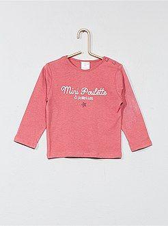 1398201cc3b Niña 0-36 meses - Camiseta estampada de algodón puro - Kiabi
