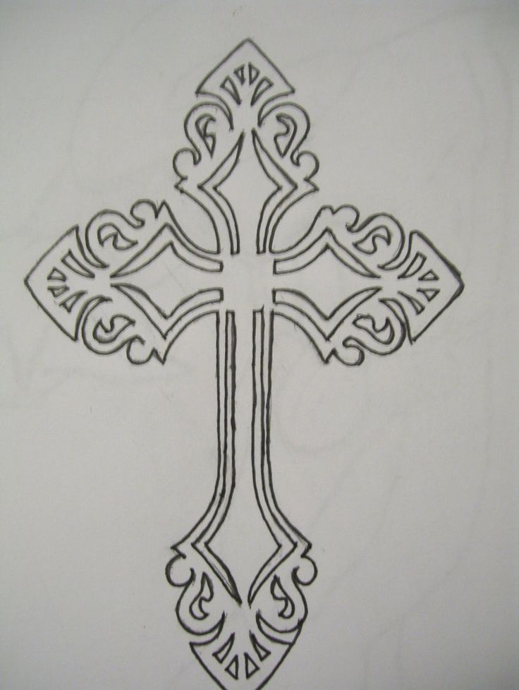 Cross Outline Tattoo Designs | celtic cross cross tattoo designs