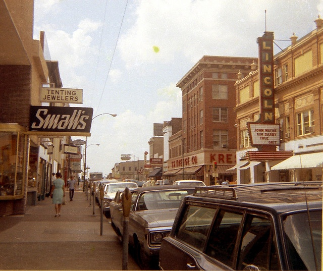Main St.Belleville, Illinois, 1969 by fluffy chetworth, via Flickr