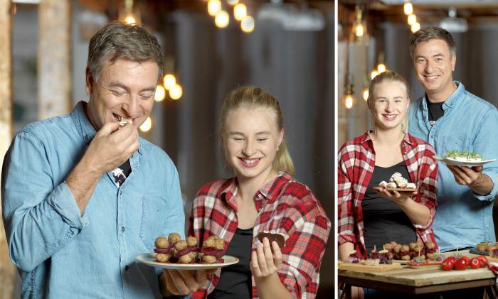 Enkelt och gott – det är tv-kocken Tareq Taylors ledord när han lagar mat. Här bjuder han och dottern Ellen på 9 lättfixade tapas som passar lika bra på glöggkalaset som på julbordet.