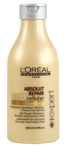 Szampon L´Oréal Professionnel Série Expert Absolut Repair Cellular do włosów suchych i zniszczonych odnawia i chroni włókna włosów. Wygładza łuski włosów, przez co przywraca im połysk, a zarazem ułatwia rozczesywanie: http://www.iperfumy.pl/loreal-professionnel/serie-expert-absolut-repair-cellular-szampon-do-wlosow-suchych-i-zniszczonych/