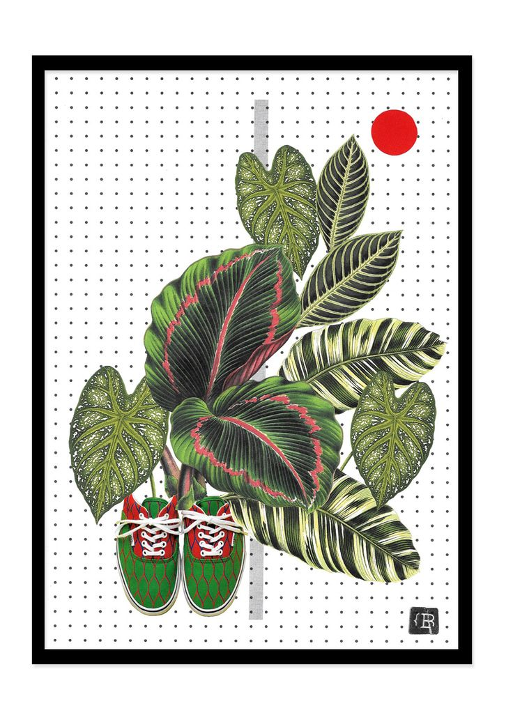 Green by Kinga Berkowska; collage papercuting