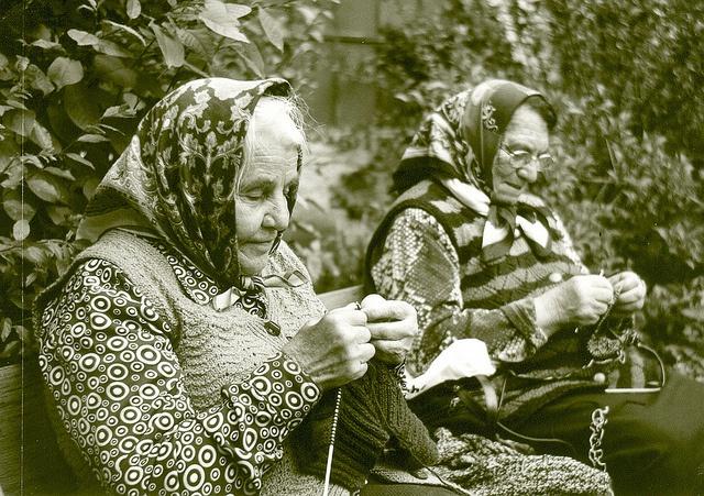 Knitting ladies by leon hart