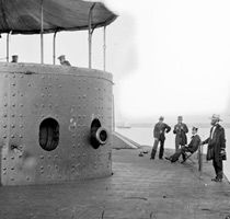 March 9 is the 150th anniversary of the battle of Hampton Roads.  The first battle of Ironclads - The Monitor and the Merrimack.  From the Civil War Trust an organization to save the battlefields.