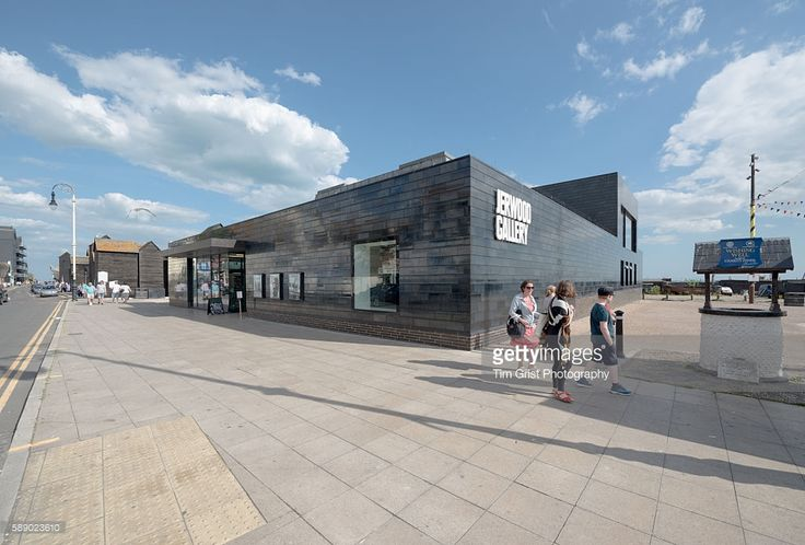 External image of the front of the Jerwood Gallery, Hastings, East Sussex, United Kingdom. Architect: HAT Projects.