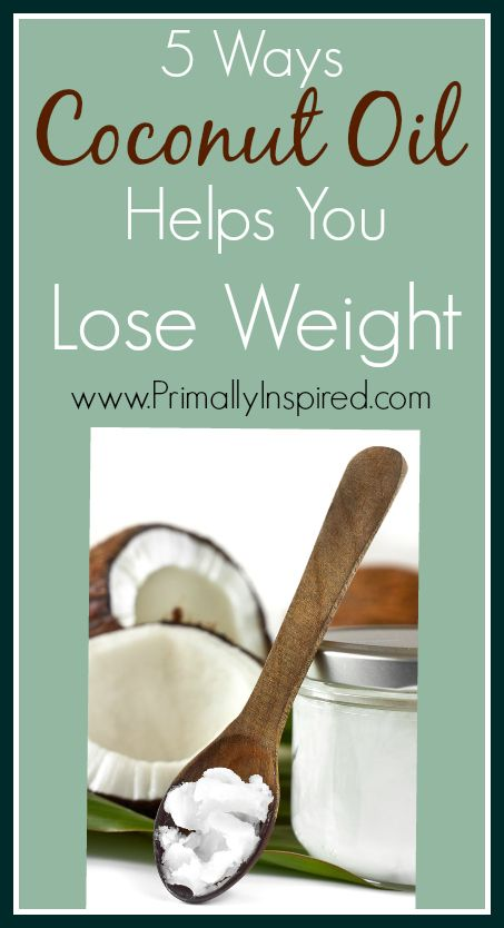 Coconut Oil Helps You Lose Weight! PrimallyInspired.com