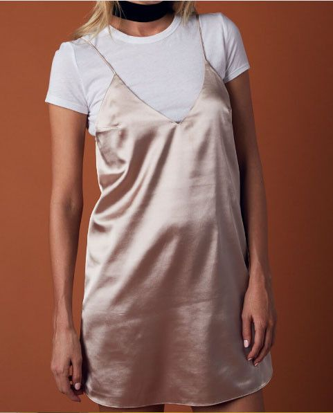 Slip into Satin! Satin satin satin!!!! Yes, because WE love satin, don't you?! This trend is so on point right now and we've got you covered! This satin dress is the perfect little slip that goes well