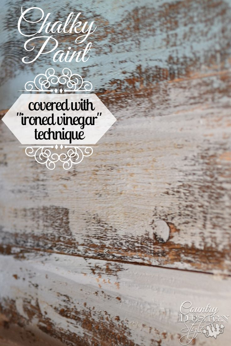 Have you tried chalky paint with ironed vinegar aging technique? I did a tutorial testing and here's the results I found. | Country Design Style | countrydesignstyle.com