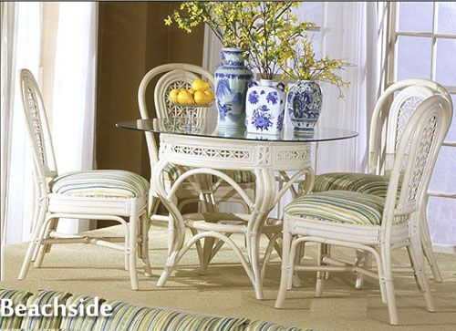 Beachside Wicker Dining Room Set