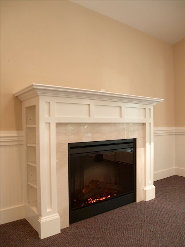 Fireplace Redo Mantle With Shelves For The Home Pinterest
