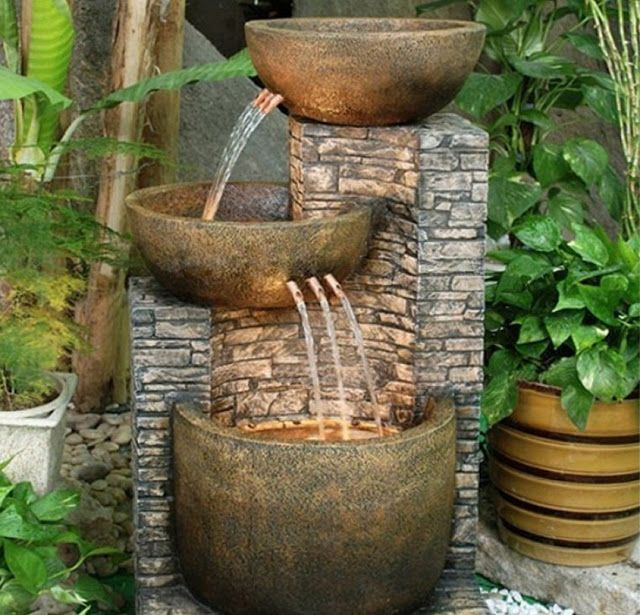 Resultado de imagem para vasos e fonte de agua