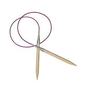a knitpro 100 cm x 7 mm basix agujas circulares fijas abedul