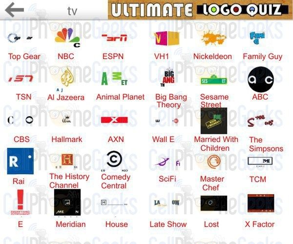 logo quiz ultimate tv ultimate logo quiz answers