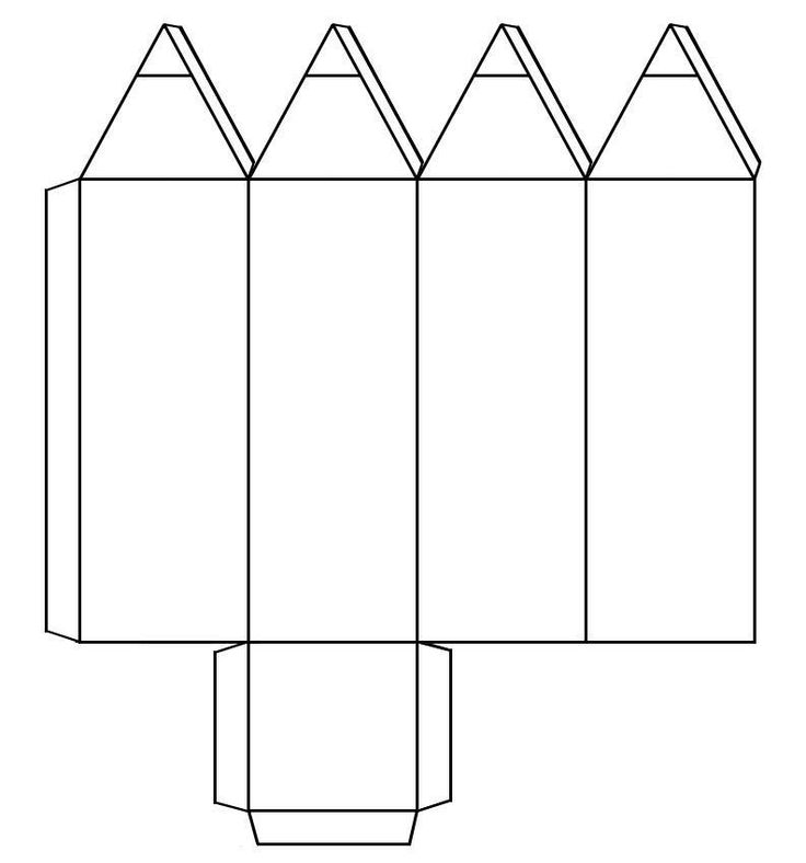 molde cajita de lápices