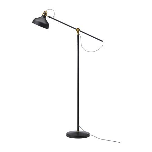 IKEA RANARP Floor/reading lamp Black You can easily direct the light where you want it because the lamp arm and head are adjustable.
