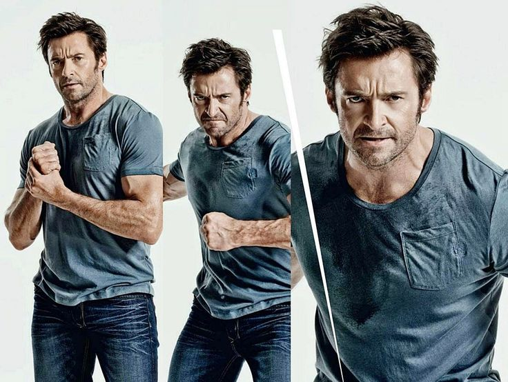 Hugh Jackman this must be part of the Wolverine workout.