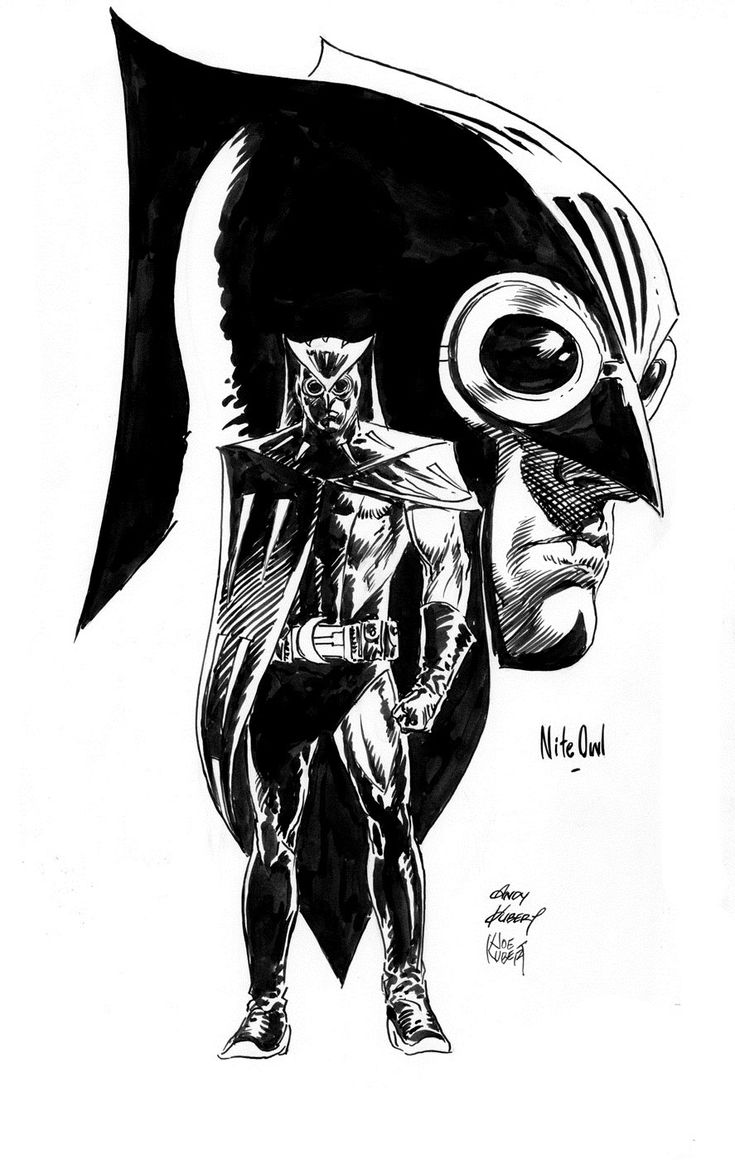 Nite Owl by Andy Kubert & Joe Kubert