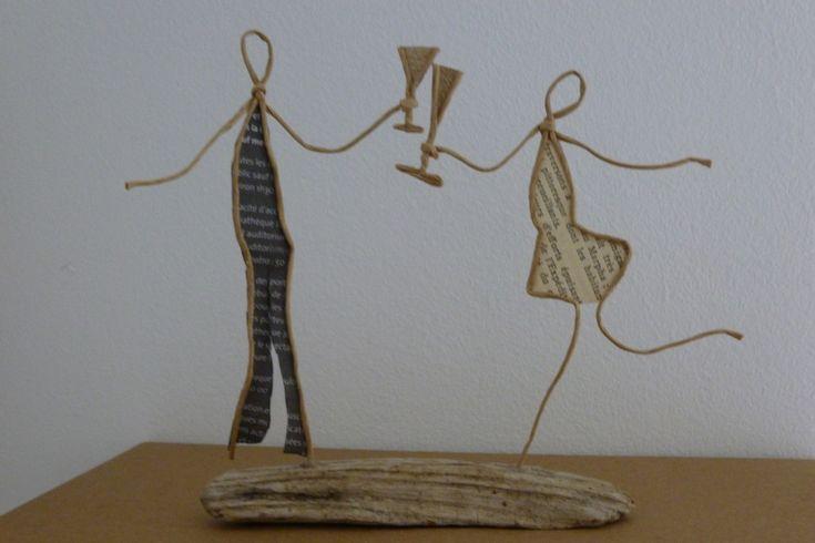 Tchin tchin ! - figurines en ficelle et papier : Accessoires de maison par ficelleetpapier
