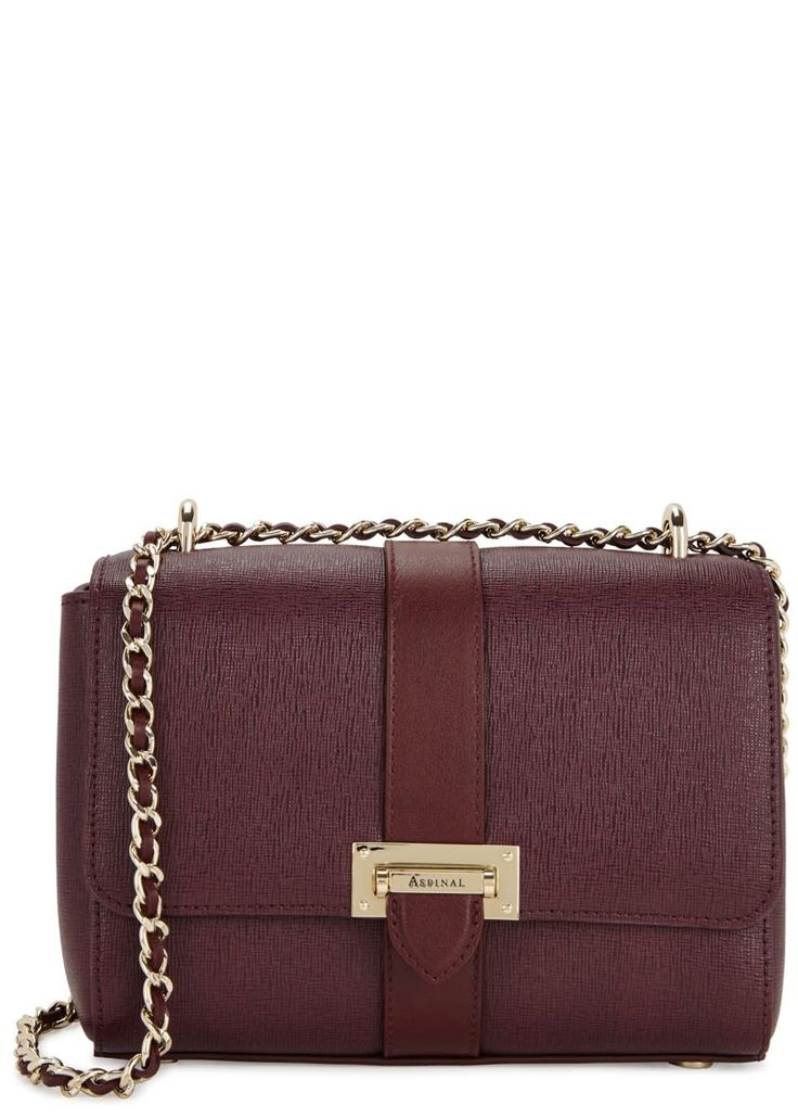 ASPINAL OF LONDON | Lottie burgundy leather shoulder bag