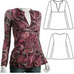 Resultado de imagem para molde blusa