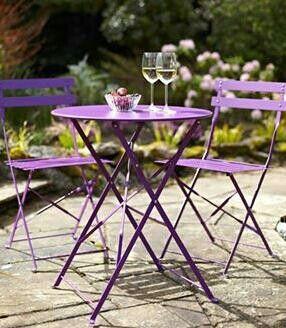 Purple outdoor furniture