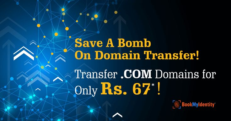 Affordable .COM Domain Transfers @ Just Rs 67!  Don't Wait Any More, Transfer Your .COM Domains To BookMyIdentity @ Just Rs 67*, Hurry!