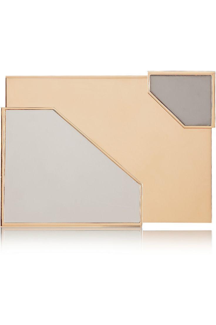 Lee Savage|Broken Space tri-tone box clutch|NET-A-PORTER.COM