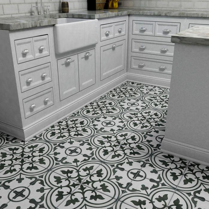 "EliteTile Artea 9.75"" x 9.75"" Porcelain Field Tile in Gray   AllModern"