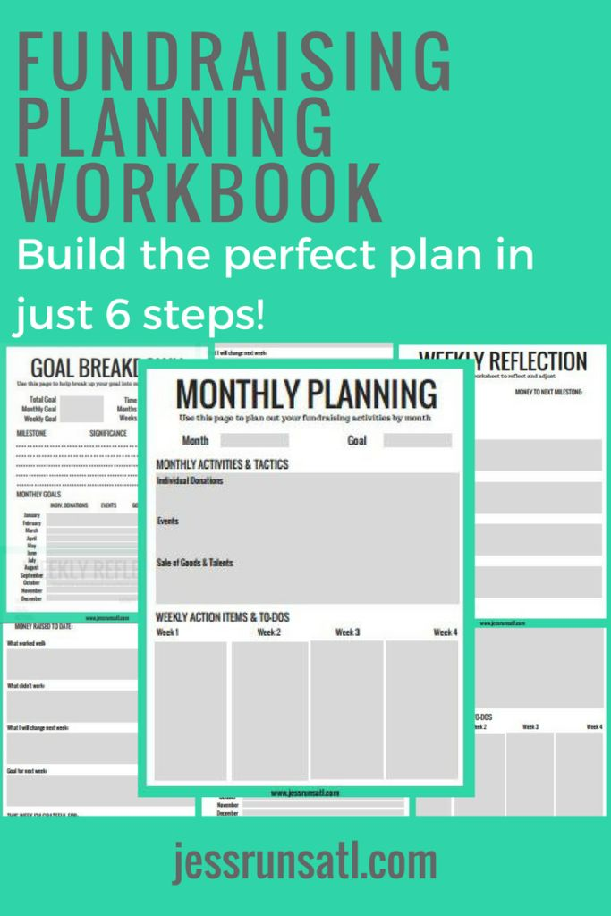 Fundraising for a charity or raising money for charity? Running for charity, team in training, or other marathons? Charity running? You need this workbook and these 6 steps to building the perfect fundraising plan!