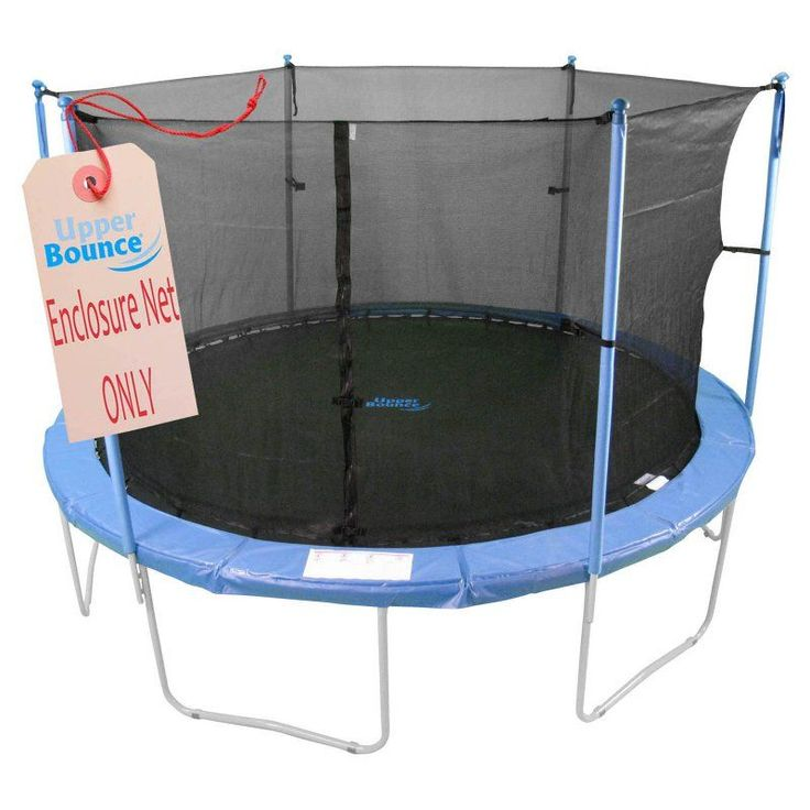 Upper Bounce 8 ft. Trampoline Enclosure Safety Net - UBNET-8-4-IS