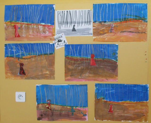 Les travaux de maternelle et autres niveaux...: LOUP: illustration du petit chaperon rouge