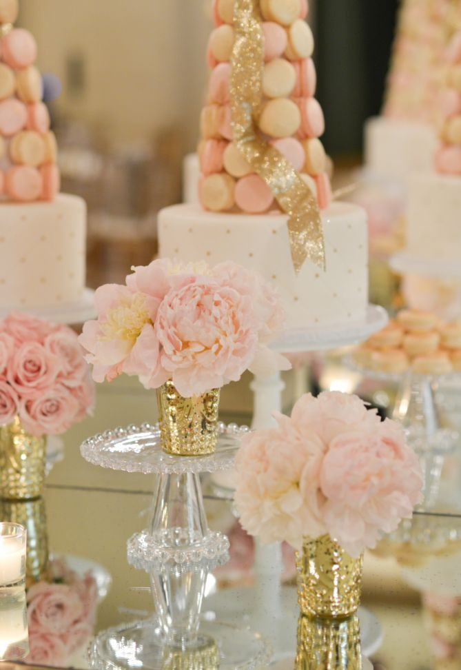 Blush Pink & gold macaroon tower | wedding Ideas | Wedding Inspiration