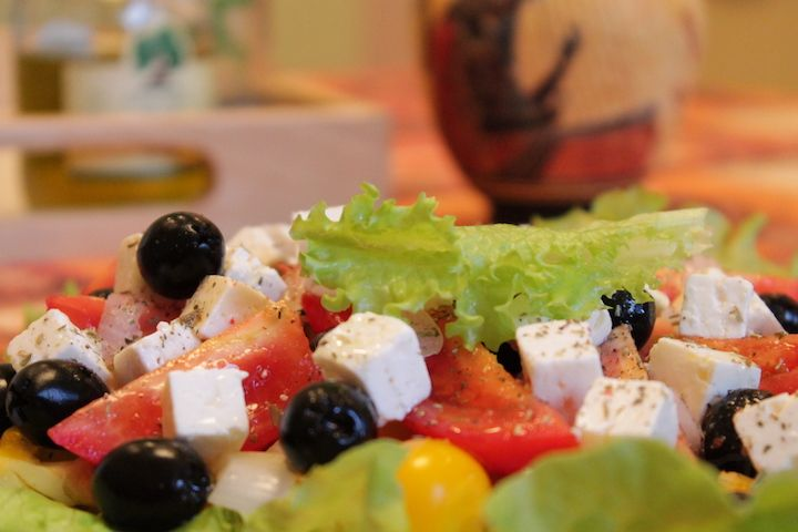 It is the #feta cheese that makes the Traditional greek salad unique and gives the one and the only flavor to it – special Greek charm #greeksalad