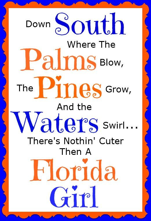 Florida Girl Magnet by jzoet on Etsy, $5.00
