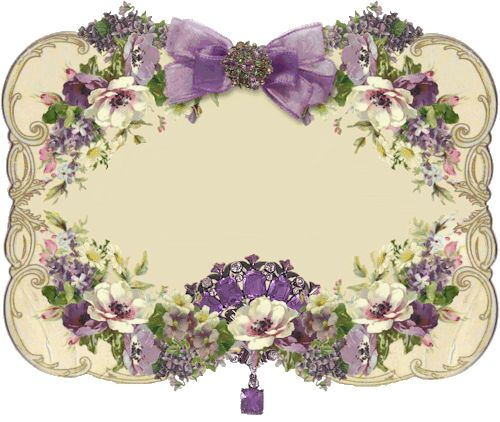 Vintage Floral Label. ..  ...................... ................................♥.....Nims.....♥