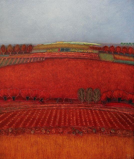 672 - Summer days - 70x60cm | Landscape by Rob van Hoek