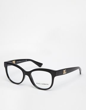 Dolce & Gabbana - Schwarze Katzenaugenbrille - Schwarz