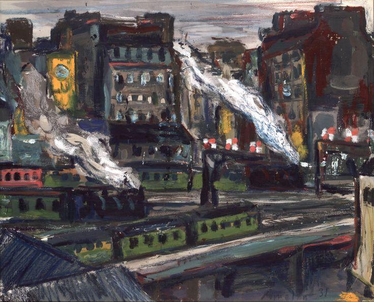 thunderstruck9:  Albin Amelin (Swedish, 1902-1975), Gare Montparnasse, 1931. Gouache and crayons on paper, 58 x 71 cm.