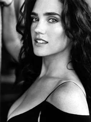 Jennifer Connelly , black and white,girl,model,pretty,photography,cute,,girls,beautiful