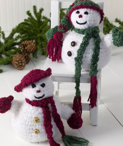 letsjustgethooking : FREE PATTERN  Mr. & Mrs. Frosty  DISCLAIMER Firs...