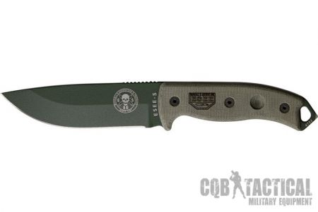Nóż ESEE-5 Plain Edge OD Blade - CQB TACTICAL