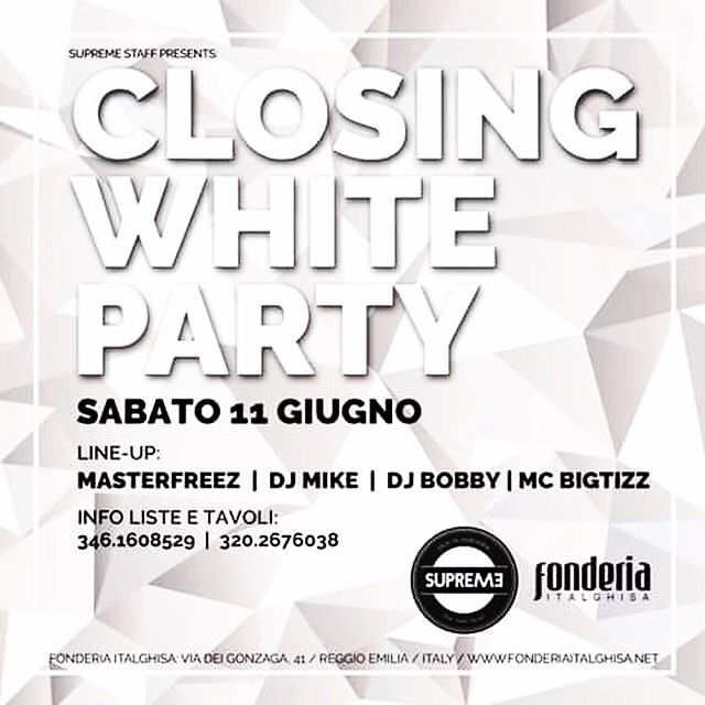 #supreme #supremestaff #closingparty2016 #whiteparty2016 #solocosebelle #dimitrimazzoni sabato 11.6.16 #hiphop  #hiphopmusic #hiphopdance #hiphopculture #hiphopstyle #solobelledonne