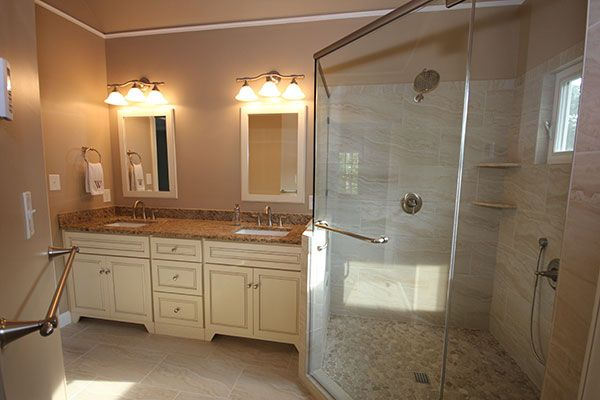 Bathroom Remodeling Raleigh Cary Apex Nc Portofino Tile Bath Remodeling Center Bath Remodel Custom Cabinets Bath Design