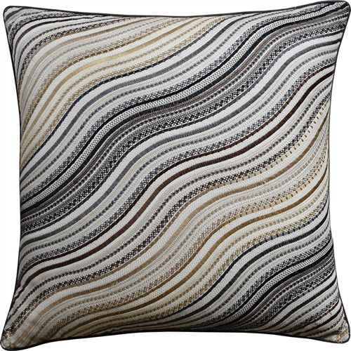 water stripe charcoal pillow is a wonderful piece inspired by the flow of natural rivers soft colors and clean lines make this pillow a perfect addition to