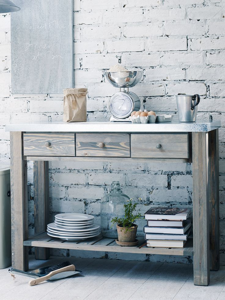 Metal Topped Console Table