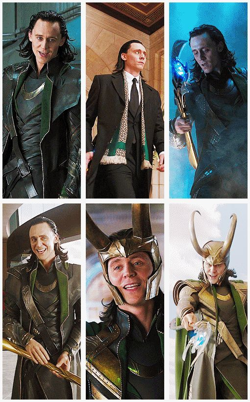 Middle picture on top was seriously one of my favorite Loki moments!! Loved him in the suit ;)
