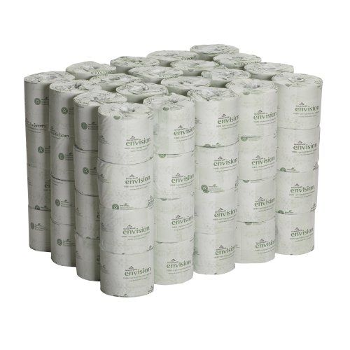 "2014 1206 --- List Price: $104.16  Price: $45.10   Free Shipping for Prime Members You Save: $59.06 (57%)    --- Georgia-Pacific Envision 19880/01 White 2-Ply Embossed Bathroom Tissue, 4.05"" Length x 4"" Width (Case of 80 Rolls) Georgia-Pacific"